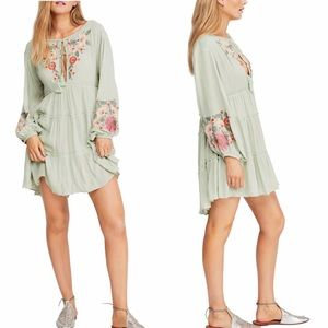 NWT free people spell on you embroidered dress